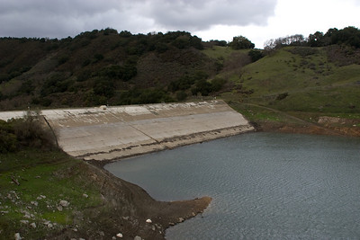 And we bid farewell to the Guadalupe Dam, where some semblance of a small lake remained (27% of capacity).
