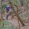 Mountain Bikers along Pimmit Run Trail downstream from Old Chesterbrook Crossing.