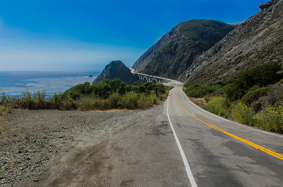 The iconic Highway 1 through central California