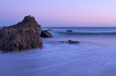 Rocky outcroppings on the shore of Leo Carrillo State beach, Malibu, CA