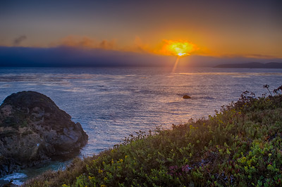 Sunset in San Simeon, CA