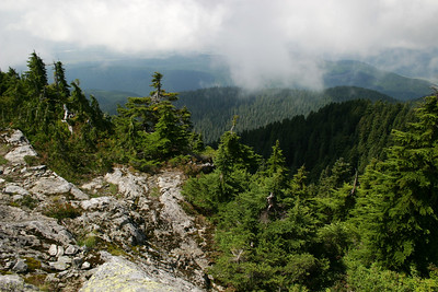 View of Fraser Valley nearing the top of Alouette Mountain