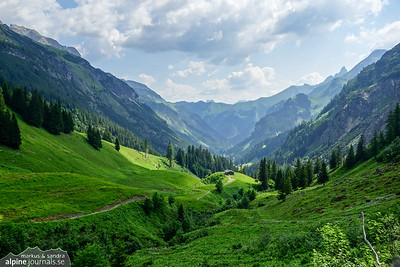 A view back from the upper end of Rappenalptal. The ferrata to Schrofenpass is soon to begin.