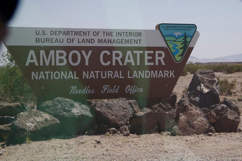 Amboy Crater entrance