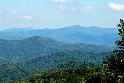 Beautiful Blue Ridge Mountains  of North Carolina