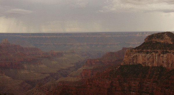 Rain storm over the canyon