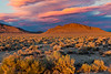 Sunset over the Nevada Hills