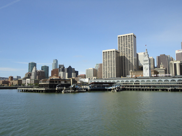 On Ferry - the port of San Francisco