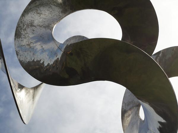 Metal sculpture near pier 39
