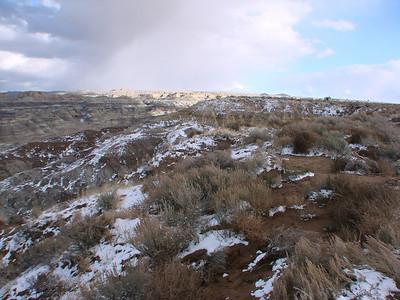 Angel Peak Bloomfield, New Mexico, Dinner with Hendersons, Aztec, 2010 Nov.