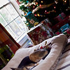 Christmas morning nap