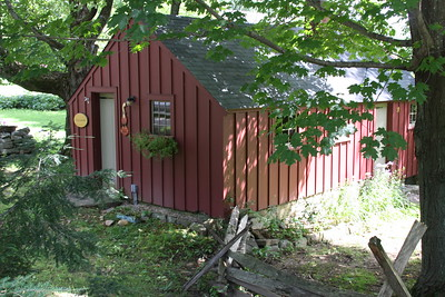 The former 'sugar shack', now a treatment room for Reiki healing.