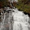 Anna Ruby Falls in Sleet and Snow near Helen, Georgia 01-29-10