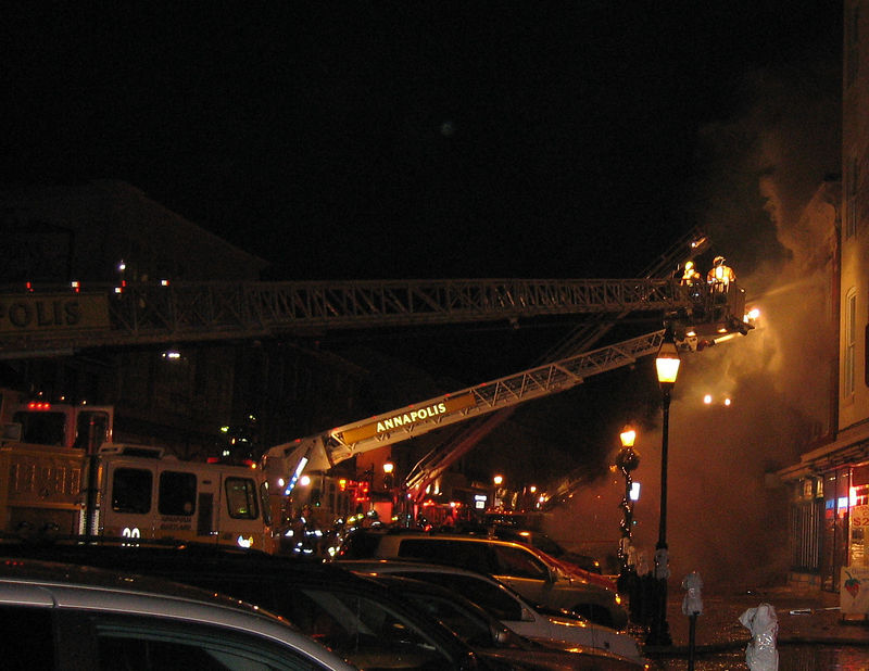 Fire on Main Street Annapolis