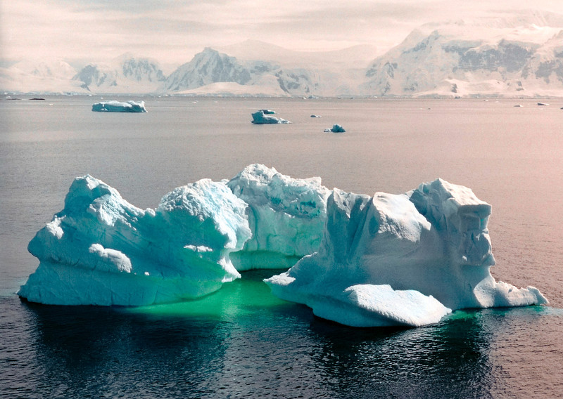 Huge iceberg at Lemaire channel, Antarctica.