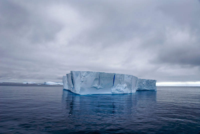 Solitary iceberg at Antarctica.