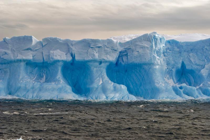 Rugged iceberg detail.