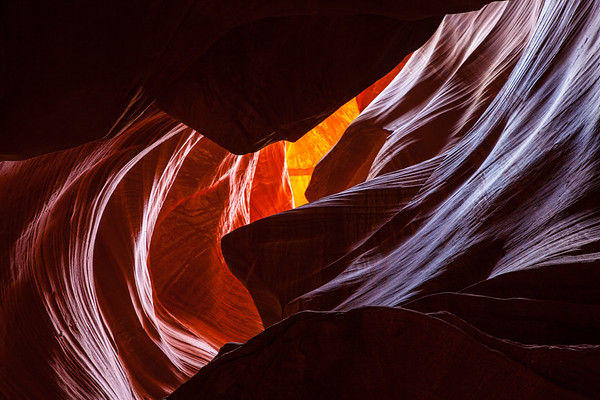 Winding Light in Antelope Canyon