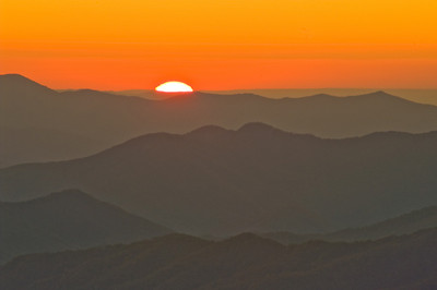 Sunset at Clingmans Dome _ Great Smoky Mountains Park
