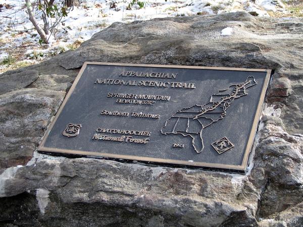 Plaque at Springer Mtn (Mile 0)