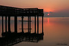 Fishing pier at sunrise, 8/20/2011, Aransas Natl Wildlife Refuge.