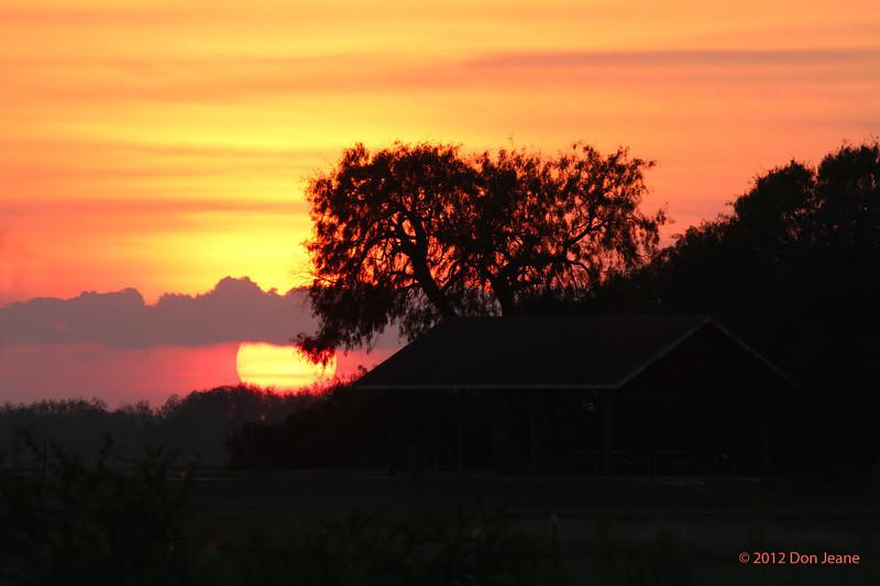 Sunset, Choke Canyon SP, 11/04/12.
