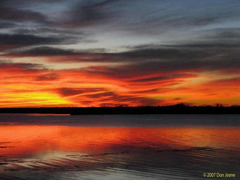 Sunset, 12/03/07, Choke Canyon St Park.