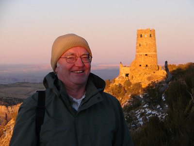 Grand Canyon sunset, Desert View Watchtower