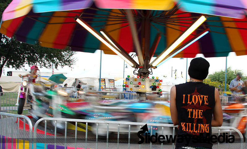 The shirt juxtaposed with the kiddie ride just cracked me up.