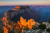 Cape Royal Wotan's Throne at Sunrise<br /> Grand Canyon National Park North Rim Arizona