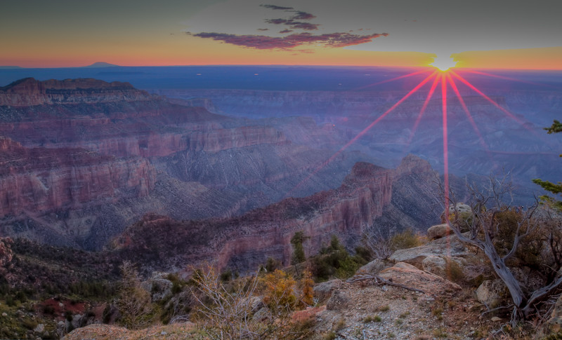 Point Imperial Sunrise<br /> Grand Canyon National Park North Rim Arizona