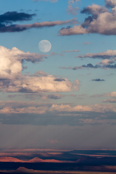 Point Imperial Moonrise<br /> Grand Canyon National Park North Rim Arizona