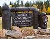 Sign Grand Canyon National Park North Rim Arizona<br /> Grand Canyon National Park North Rim Arizona