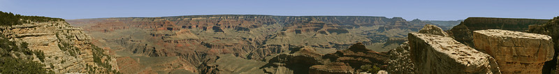 Panorama of the Grand Canyon.