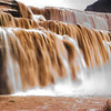 """Chocolate Falls"" on the Little Colorado River. Navajo Nation, nr. Flagstaff.  4/11/10"