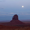 Full moon over Monument Valley