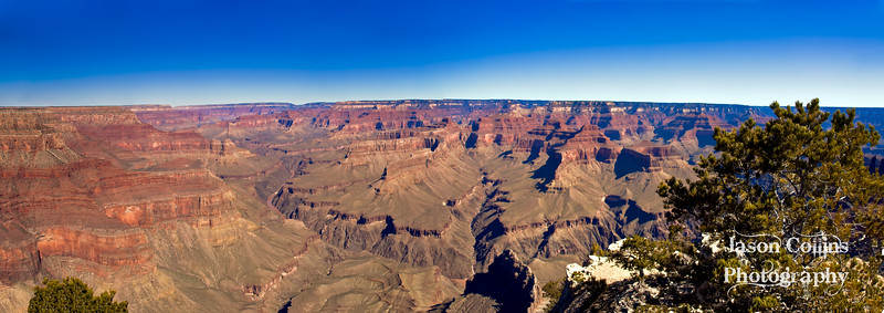 Panorama view from Hermits Rest - Grand Canyon