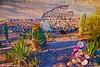 San Xavier del Bac Mission Garden at Sunset, Tucson, AZ
