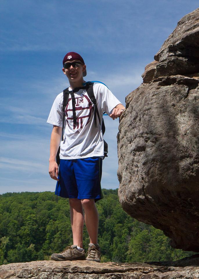 Jack on Hawksbill Crag Trail