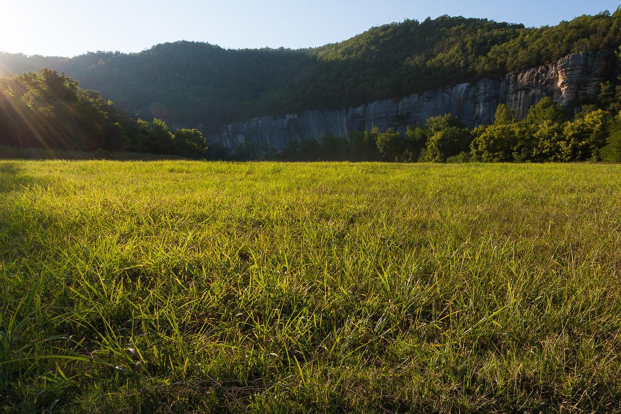 Roark Bluff from Steele Creek Campground