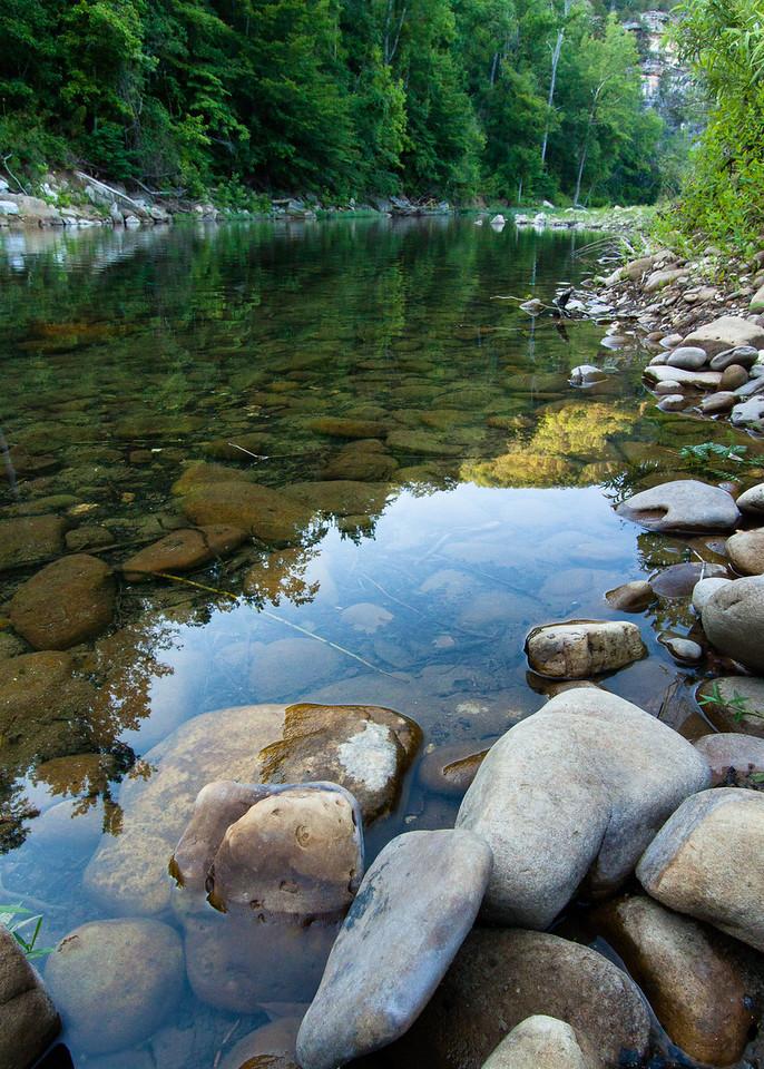 Buffalo River near Steele Creek Campground in Evening