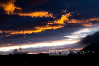 Iceland sky at dusk
