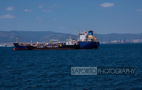 Tanker departing Algeciras