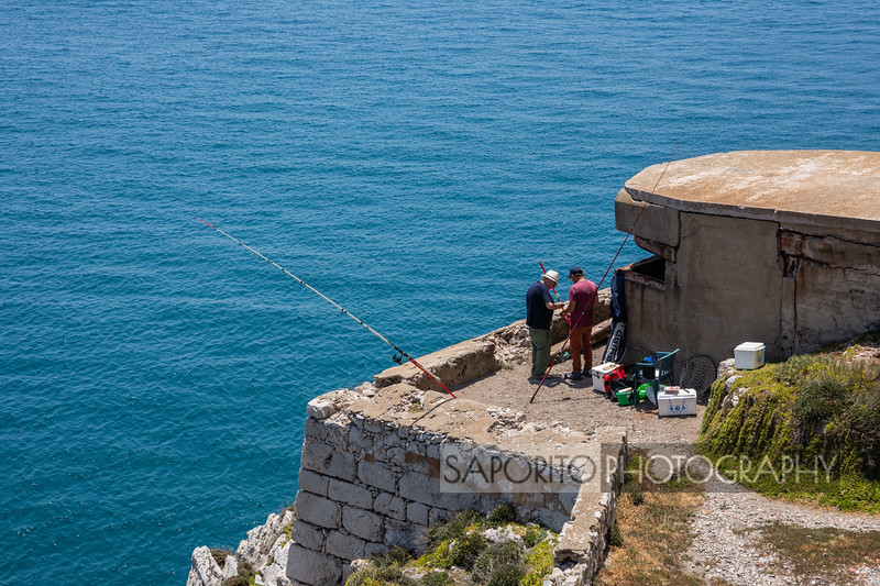 Fisherman on East Side of Gibraltar