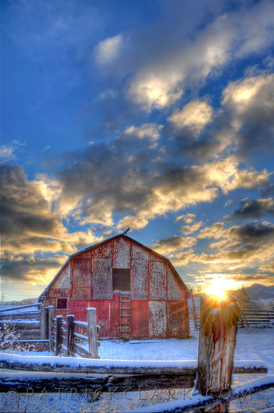 Red Barn Morning