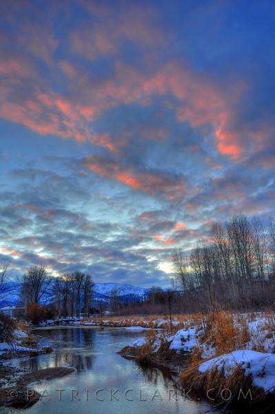 Pink swirl, Missoula,Montana