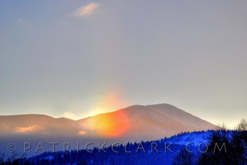 Sundog over Lolo Peak, Missoula, Montana