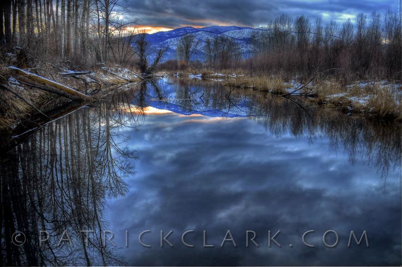 Black Mountain reflections, Missoula, Montana