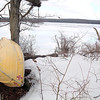 Ashburnham resident Robert Fichtel and neighbors want to the town to change the new rule banning rowboats from the Upper Naukeag Lake in town. Fitchtel's boat still sits at the boat launch he has used since he was a boy.  SENTINEL & ENTERPRISE/JOHN LOVE