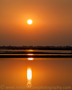 Salt Pan Sunset